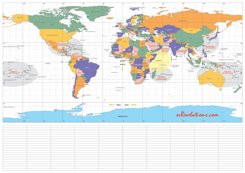 FREE Worldcruise Planning Map - A1 size